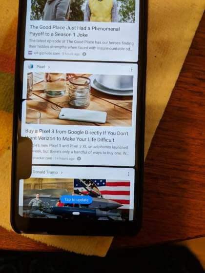 Google Pixel 3 XL Notch-Bug