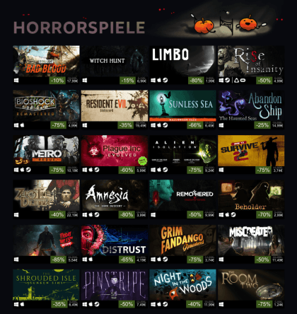 Halloween Steam Sale