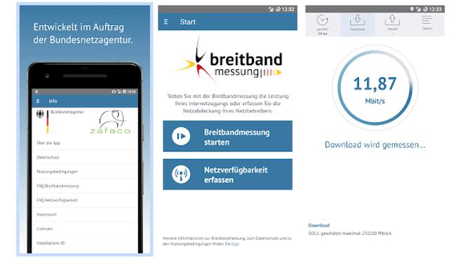 Breitbandmessung Mobile App