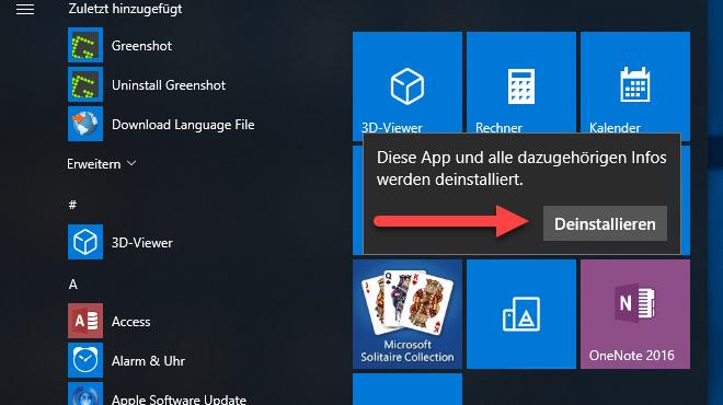 Windows 10: So entfernen Sie nervige Apps