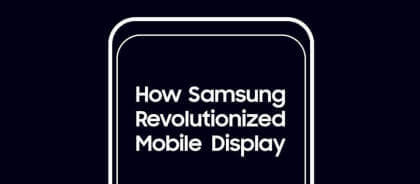 Samsung: development of new smartphone display