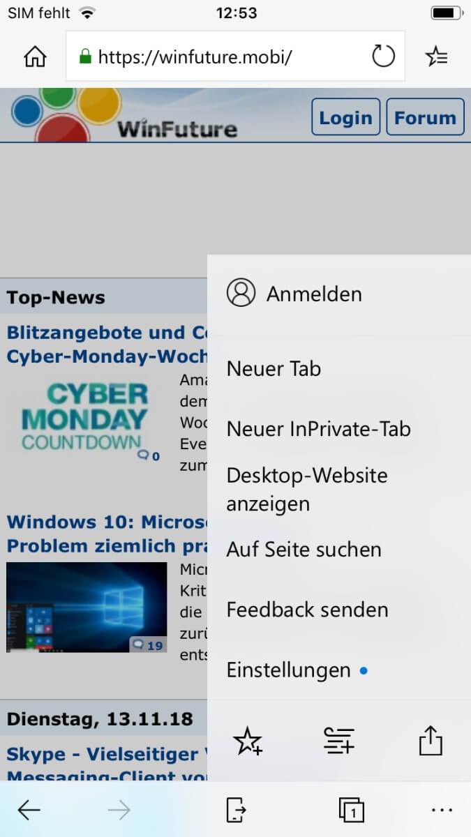 Microsoft Edge iOS App