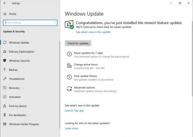 Windows 10 Insider Preview Build 18282