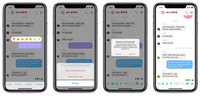 Facebook Messenger Löschfunktion