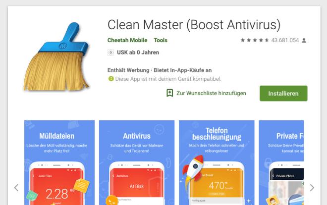 Cheetah Mobile Cleaner Master