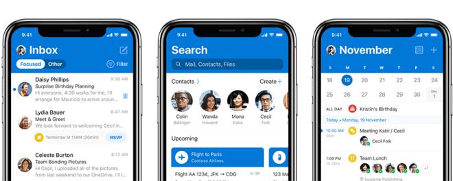 Neues Outlook für iOS