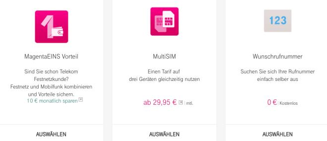 Telekom MultiSIM Angebot Magenta Mobil XL