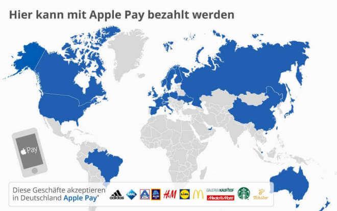 Hier kann mit Apple Pay bezahlt werden