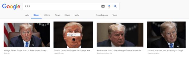 Googlesuche Idiot