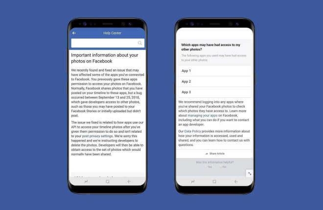 Facebook Foto API-Datenpanne