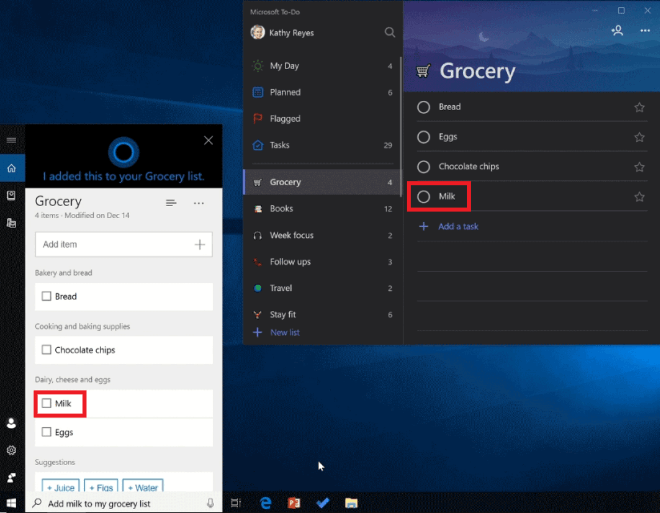Cortana To-Do Integration