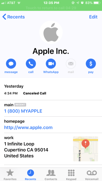 Apple Support Scam (Brian Krebs)
