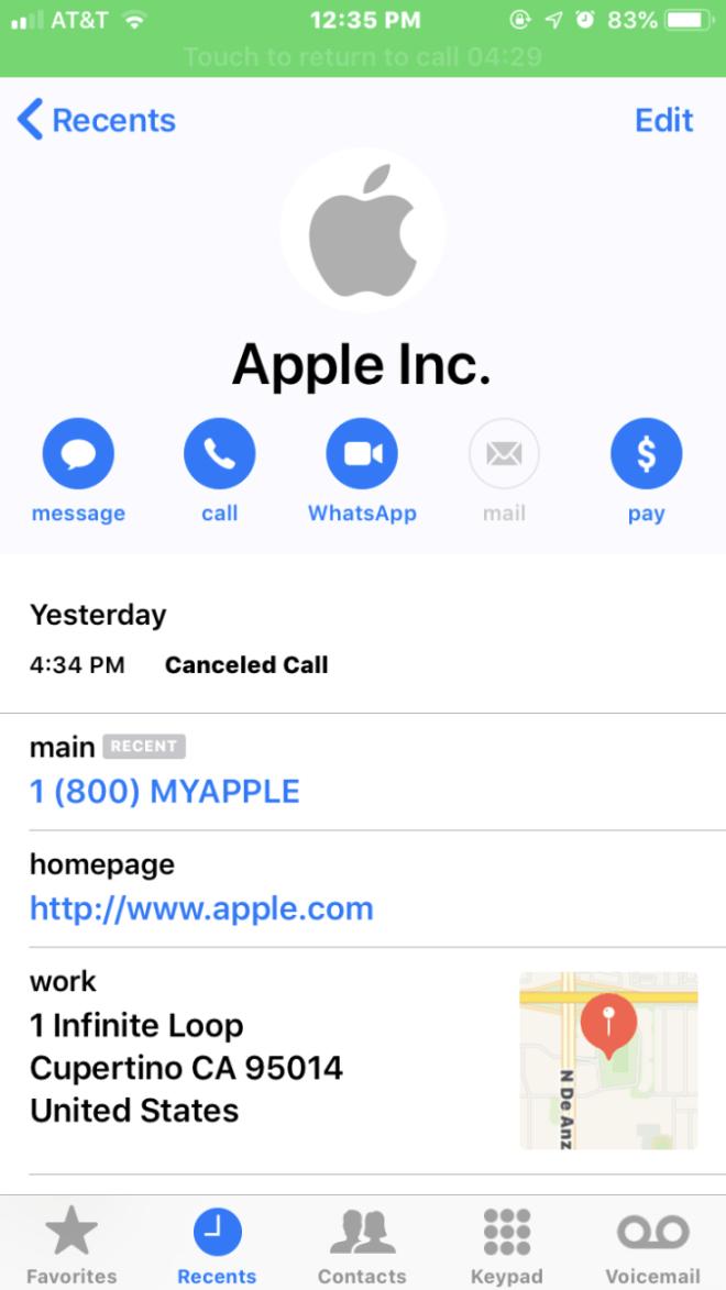 Apple Support Scam (Brian Krebs)