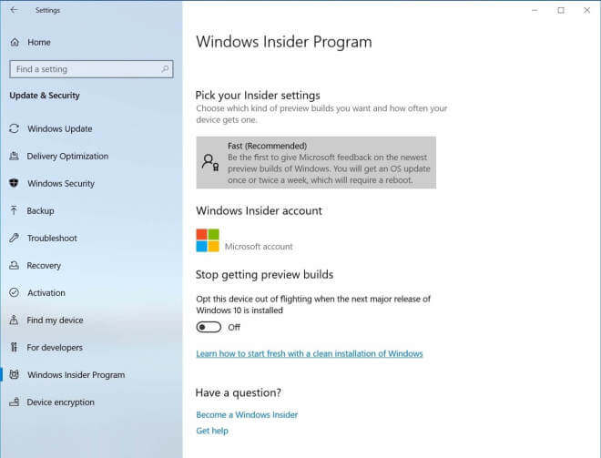 Windows 10 Insider Preview Build 18317