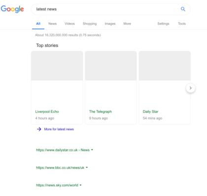 Google-Suche mit Leistungsschutzrecht