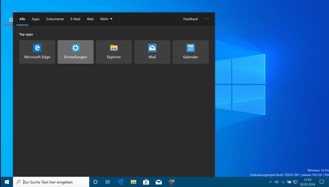 Windows 10 Build 18329