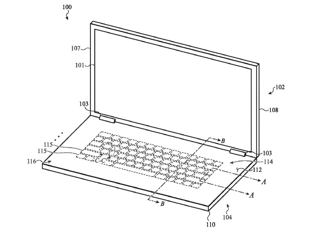 Patent Apple Glas-Tastatur
