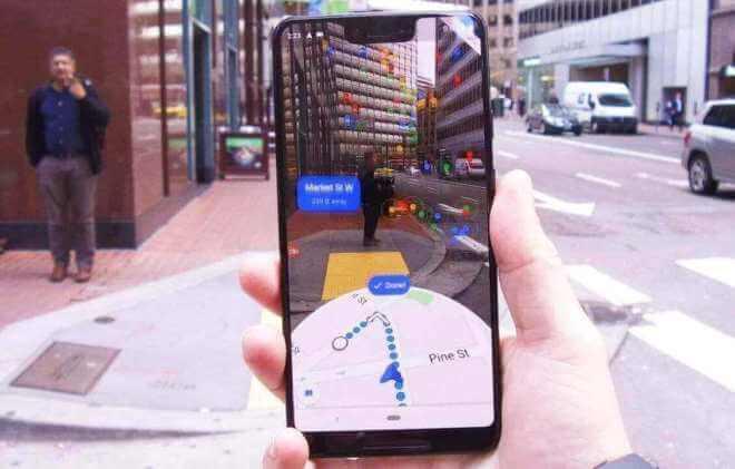 Google Maps: AR-Navigation