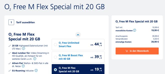 O2 Free Unlimited Flex-Tarif