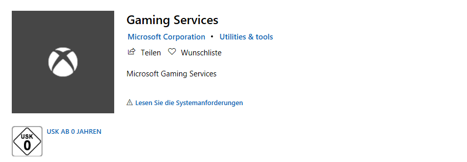 Xbox Gaming Services