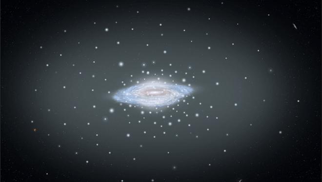 Hubble: Milchstraße und Kugelsternhaufen
