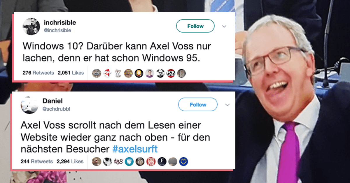 Axel Voss Meme
