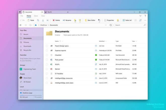 Michael West Windows Explorer Redesign