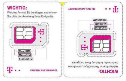 Neuer SIM-Träger der Telekom
