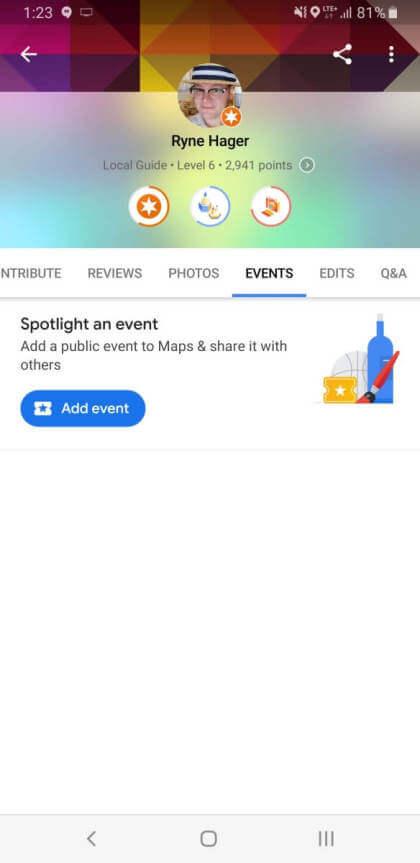 Google Maps Events