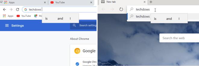 Text-Vorschläge in Chrome