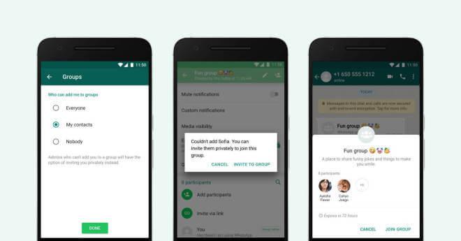 WhatsApp Gruppen-Einschränkungen
