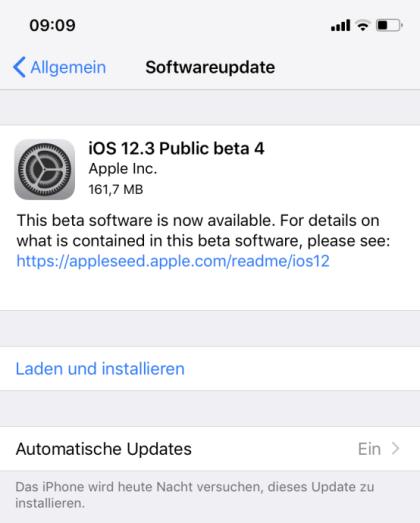 Apple iOS 12.3