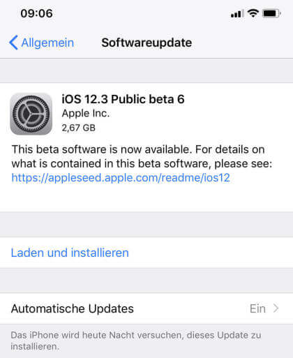 Apple iOS 12.3