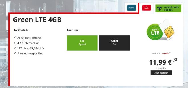 Green LTE Vodafone