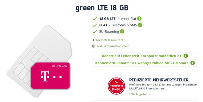 Green LTE Angebote Mobilcom Debitel
