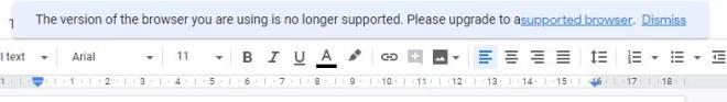 Google Docs warnt vor Chromium Edge
