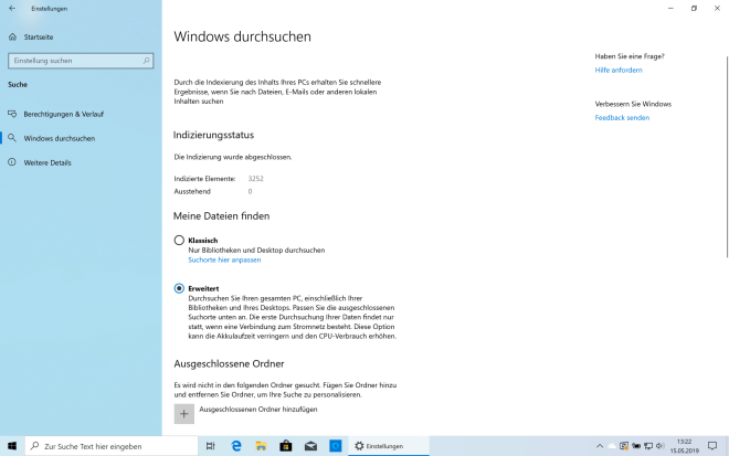 Windows 10 Mai 2019 Update