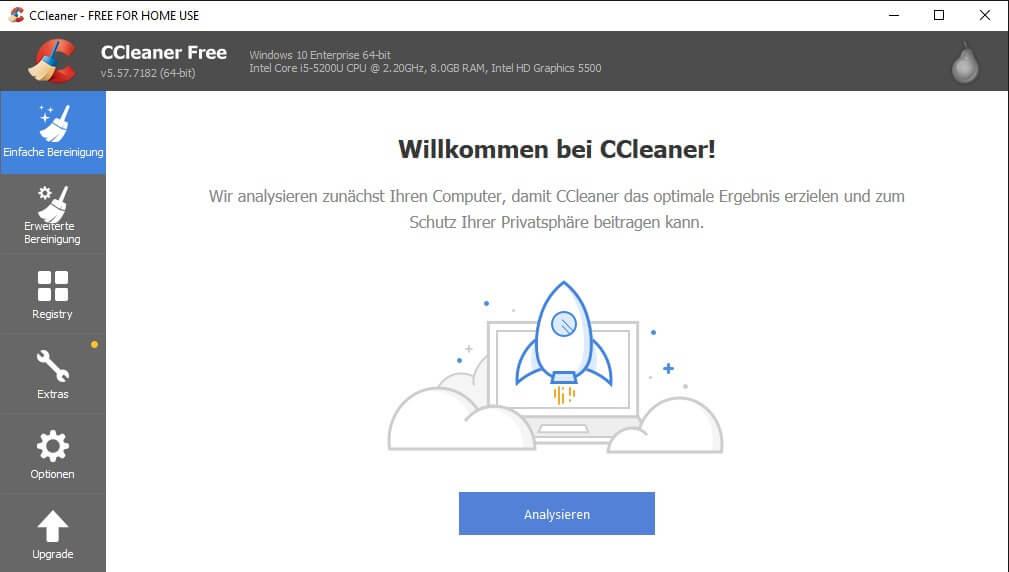 CCleaner: Neue Easy Clean-Oberfläche