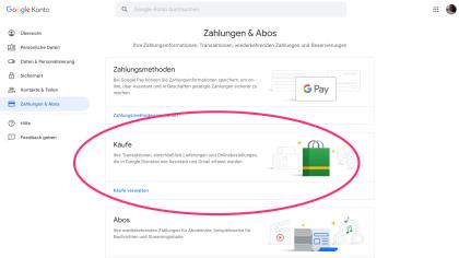 Google Einkaufslisten-Analyse