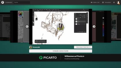 Picarto TV: Livestreaming-Plattform für Künstler