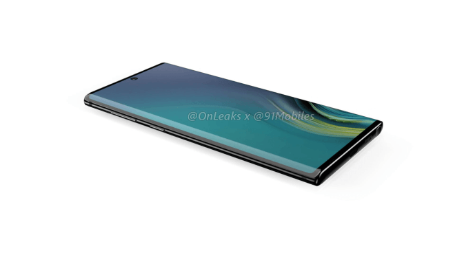 Samsung Galaxy Note 10 Renderings