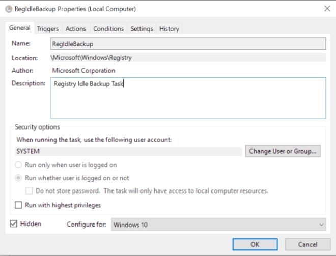 Windows 10 Registry Backup