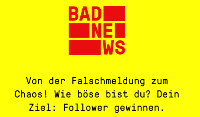 Bad News: Spiel zum trainieren von Fake-News-Erkennung