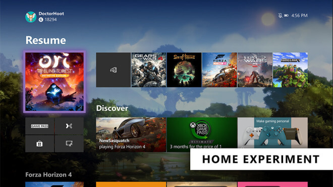 Xbox One Dashboard 2019