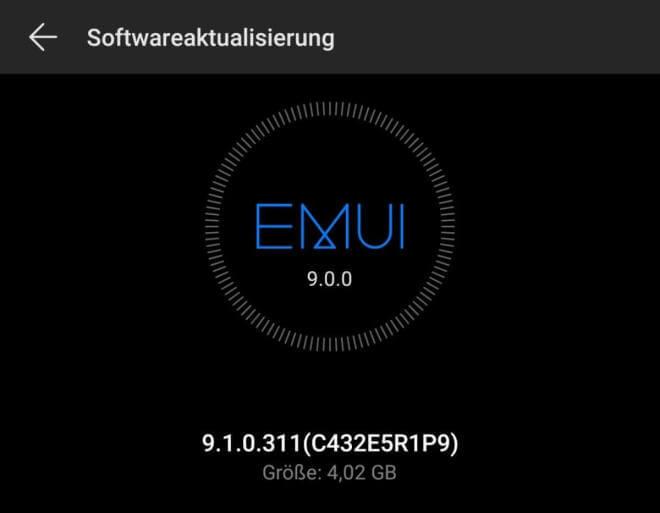 Huawei EMUI 9.1 Update