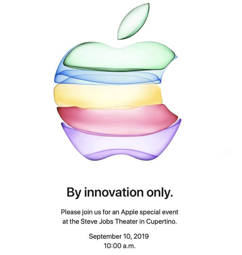 Apple iPhone-Event Einladung 2019