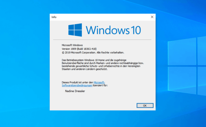 Update Windows 10 November 2019
