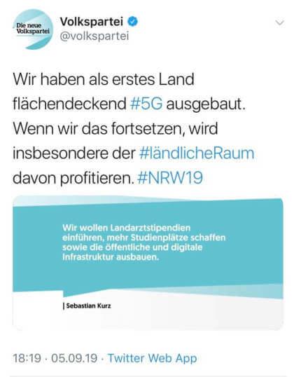 ÖVP-Tweet zu 5G