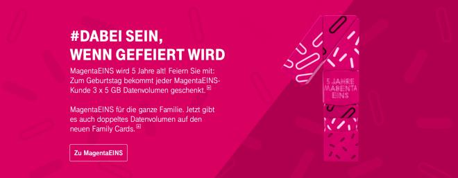 Telekom MagentaEins Geburtstagsaktion
