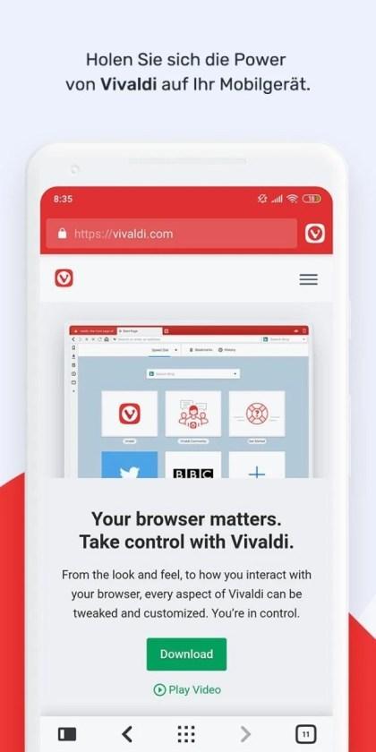 Vivaldi für Android